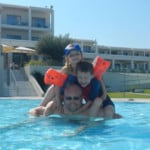 In the baby pool (main hotel in background)