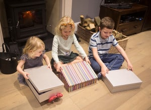 Opening xmas eve boxes